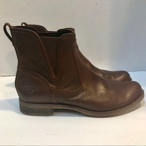 Timberland Women's 9.5 Brown Leather Ankle Boots
